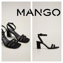 MANGO Square Toe Casual Style Block Heels Party Style