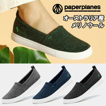 paperplanes Round Toe Rubber Sole Casual Style Unisex Plain