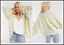ASOS Cable Knit Casual Style Long Sleeves Plain Sweaters