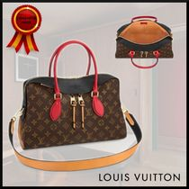 Louis Vuitton TUILERIES Monogram Casual Style Canvas A4 3WAY Leather Office Style