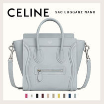 CELINE Luggage Casual Style Calfskin 2WAY Elegant Style Logo Icy Color