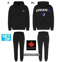D SQUARED2 Unisex Street Style Co-ord Sweats Two-Piece Sets