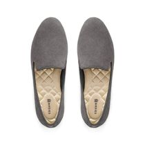 BIRDIES Plain Toe Rubber Sole Casual Style Suede Plain Office Style
