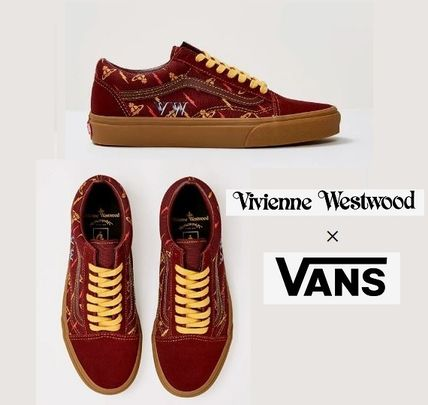 Unisex Suede Street Style Collaboration Logo Sneakers