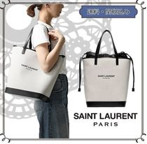 Saint Laurent TEDDY Casual Style 2WAY Formal Style  Logo Totes