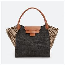 Uterque Casual Style Bag in Bag A4 Leather Elegant Style Totes