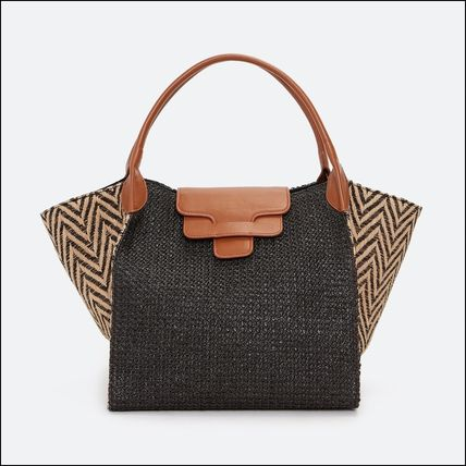 Casual Style Bag in Bag A4 Leather Elegant Style Totes