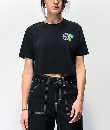 Short Street Style Short Sleeves Logo Cropped