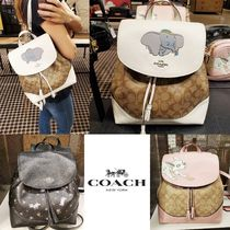 Coach Casual Style Saffiano Tassel 2WAY Other Animal Patterns