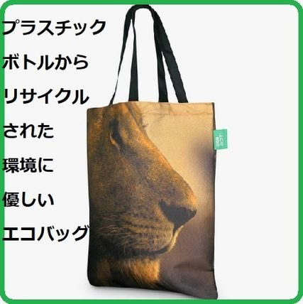Casual Style Unisex Other Animal Patterns Totes
