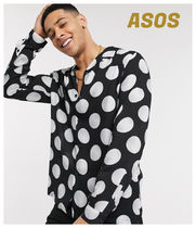 ASOS Button-down Dots Street Style Long Sleeves Shirts