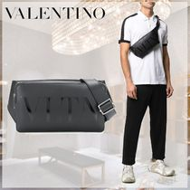 VALENTINO Blended Fabrics Street Style 2WAY Plain Leather Belt Bags