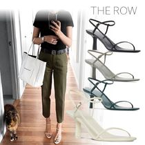 The Row Open Toe Casual Style Plain Leather Pin Heels Party Style