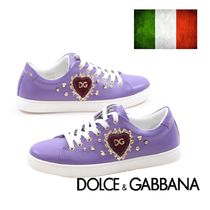 Dolce & Gabbana Rubber Sole Casual Style Street Style Logo Low-Top Sneakers