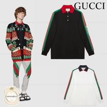GUCCI Long Sleeves Cotton Polos