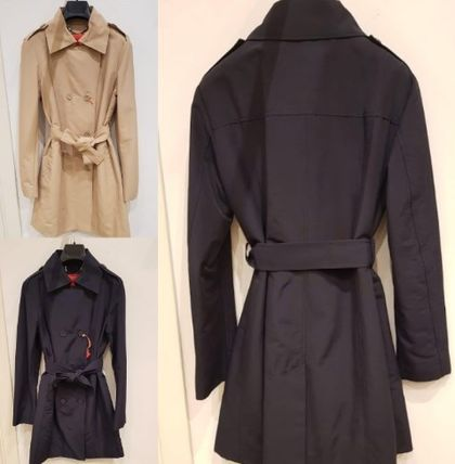 Plain Medium Party Style Trench Coats
