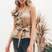 Casual Style Plain Tops