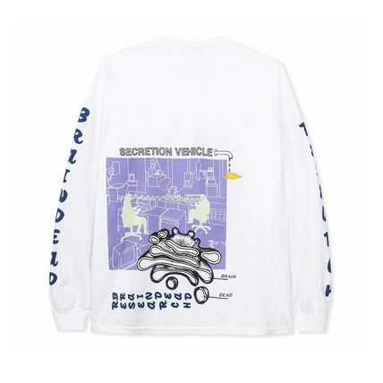 Street Style Long Sleeves Logos on the Sleeves
