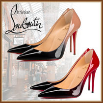 Christian Louboutin Casual Style Plain Leather Pin Heels Party Style