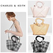 Charles&Keith Casual Style Faux Fur Bag in Bag A4 2WAY Plain Party Style