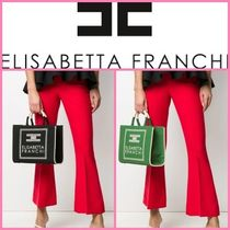 ELISABETTA FRANCHI Casual Style Canvas Street Style 2WAY Office Style