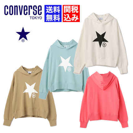 Short Star Sweat Long Sleeves Cotton Cropped