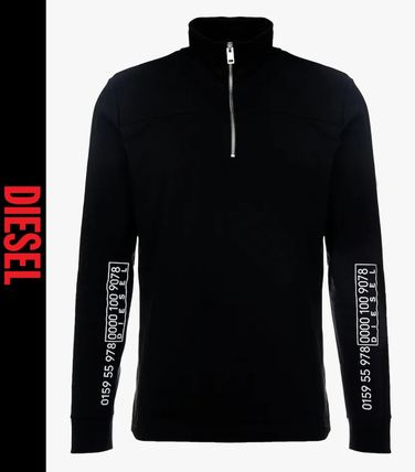 DIESEL Long Sleeve T-shirt Logo Long Sleeves Street Style