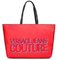 VERSACE JEANS Casual Style Nylon Office Style Elegant Style Logo Totes