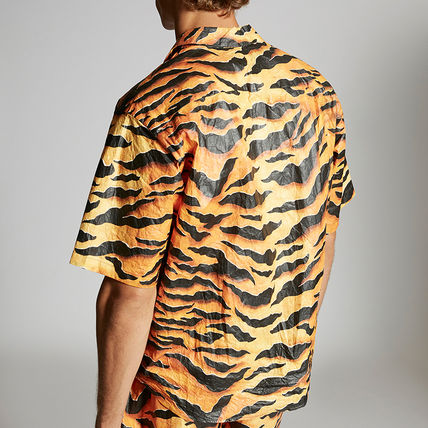 D SQUARED2 Button-down Camouflage Street Style Other Animal Patterns