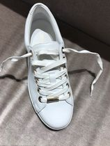 Jimmy Choo Star Round Toe Rubber Sole Casual Style Street Style Plain