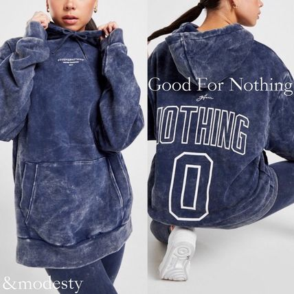 Street Style Long Sleeves Cotton Oversized Logo