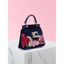 Roger Vivier Flower Patterns Casual Style 2WAY 3WAY Leather Party Style