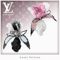 Louis Vuitton Costume Jewelry Flower Party Style Silver Elegant Style