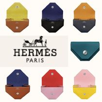HERMES Unisex Plain Coin Cases