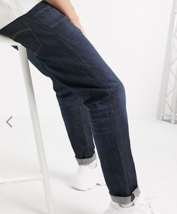 Tapered Pants Blended Fabrics Street Style Plain Cotton