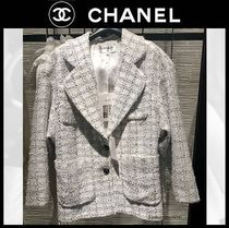 CHANEL Other Plaid Patterns Casual Style Medium Party Style