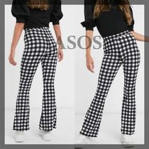 ASOS Printed Pants Gingham Other Plaid Patterns Casual Style