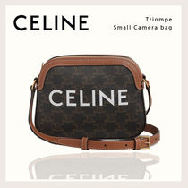 CELINE Triomphe Casual Style Calfskin Canvas 2WAY Plain Office Style