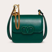 VALENTINO  VSLING Casual Style Calfskin Studded 2WAY Plain Leather Party Style
