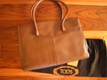 TOD'S Calfskin Plain Office Style Totes