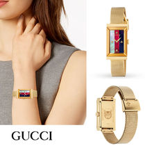 GUCCI Casual Style Unisex Street Style Stainless Office Style