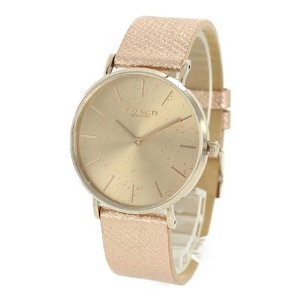 Coach Casual Style Round Party Style Quartz Watches Formal Style