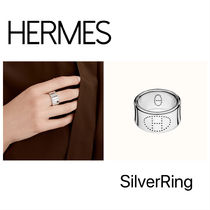 HERMES Evelyne Casual Style Unisex Party Style Silver Rings