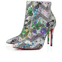 Christian Louboutin Casual Style Plain Leather Pin Heels Block Heels Party Style