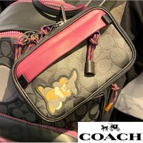 Coach SIGNATURE Unisex Other Animal Patterns PVC Clothing Logo Bags