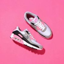 Nike AIR MAX 90 Unisex Blended Fabrics Street Style Low-Top Sneakers