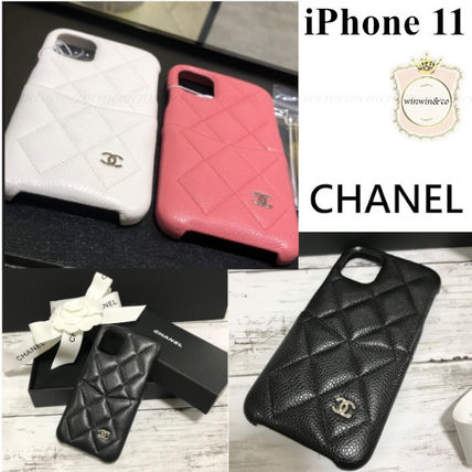 CHANEL Plain Logo iPhone 11 Smart Phone Cases