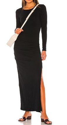 Casual Style Tight Plain Office Style Elegant Style Dresses