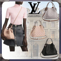 Louis Vuitton MAHINA Monogram Casual Style 2WAY Chain Leather Office Style