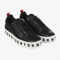 DKNY Casual Style Unisex Plain Logo Low-Top Sneakers